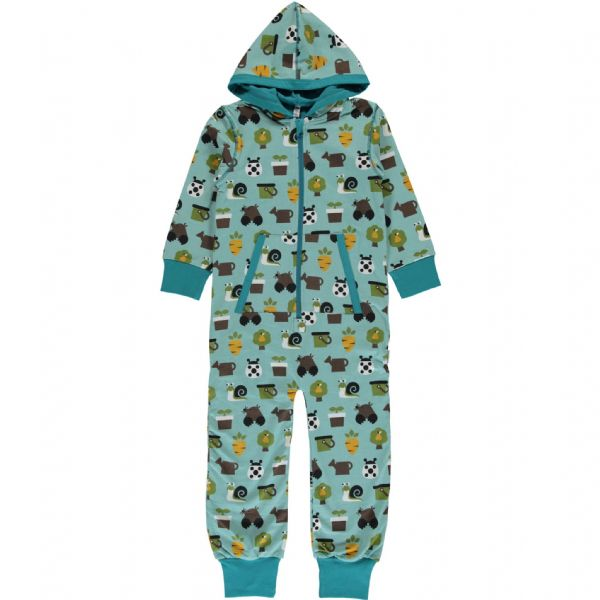 Maxomorra Hooded Onesie Garden